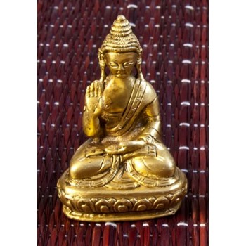 Amoghasiddhi Buddha, 7.5 cm , Messing
