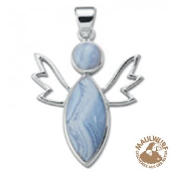 Anhänger Lichtengel Chalcedon blau (Verständigung) , 4,7cm