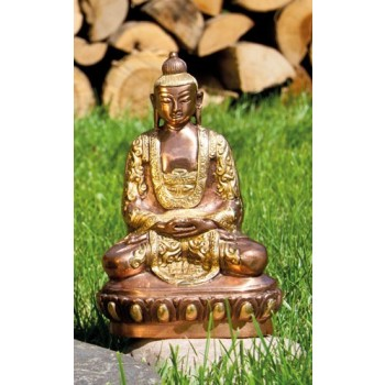 Buddha Amitabha, Messing/Kupfer, 20 cm