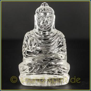 Buddha aus Bergkristall, 83,4 Gramm, 7 x 4,5 cm