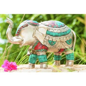 Elefant aus Messing versilbert
