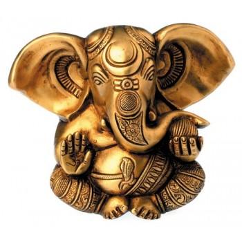 Ganesha messing 13 cm