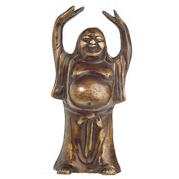 Happy Buddha, Messing, 12 cm