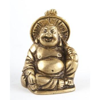 Happy Buddha, Messing, 4.5 cm