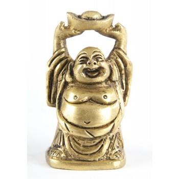 Happy Buddha, Messing, 5 cm