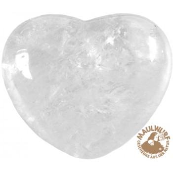Herz bauchig, Bergkristall, 5,5cm