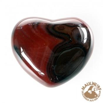 Herz bauchig, Carneol (gebr.) , 5,5cm