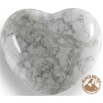 Herz bauchig, Magnesit, 4,5cm