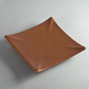 Kerzenuntersetzer quadratisch terracotta (VPE: 6 Stück)