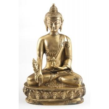 Medizin-Buddha, 20 cm , Messing