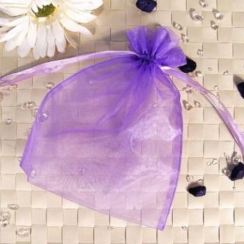 Organza-Beutel groß lila 50 Stück