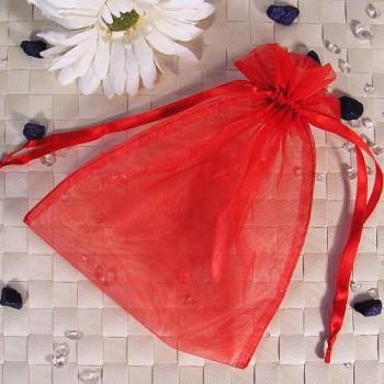 Organza-Beutel groß rot 50 Stück