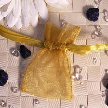 Organza-Beutel mini gold 50 Stück