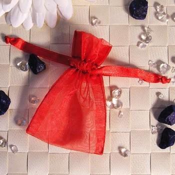 Organza-Beutel mini rot 50 Stück