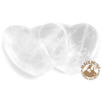 Partnerherz Bergkristall, 4,3cm (6 Stück/VE)