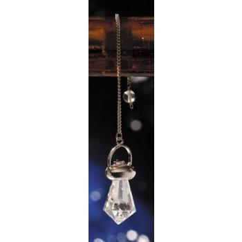 Bergkristallpendel mit Amethyst