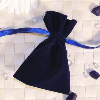 Samtbeutel, blau, 9 x 12 cm 20 Stück