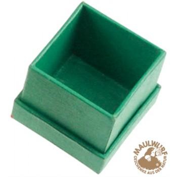 Schmuckschachtel, 4,5 x 4,5cm , grün (24 Stück/VE)