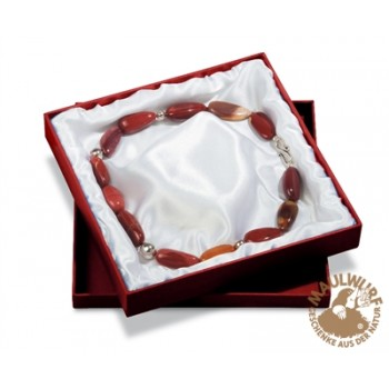 Schmuckschachtel für Colliers, 18x18cm , rot (6 Stück/VE)