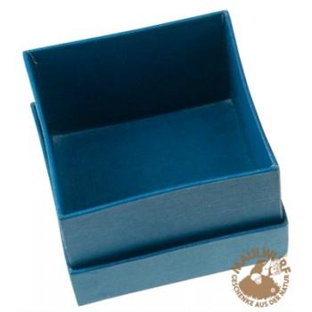 Schmuckschachtel Größe 2, 3,5x3,5cm , blau, VE mit 36 Stück