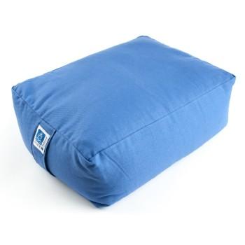 Sitzkissen, Quader blau mit Buchweizen