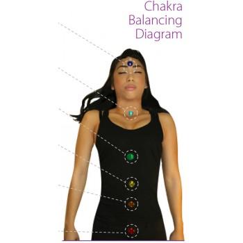 Tachyonisiertes Chakra Ausgleichset 24mm - für eine tiefe Meditation