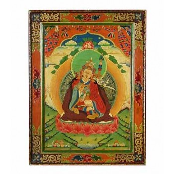 Thangka aus Holz Padmasambhava 74 x 56 cm
