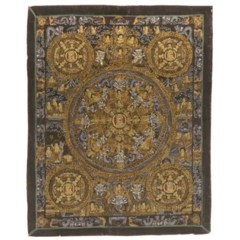 Thangka Mandala, im Wechselrahmen, ca. 33 x 27 cm