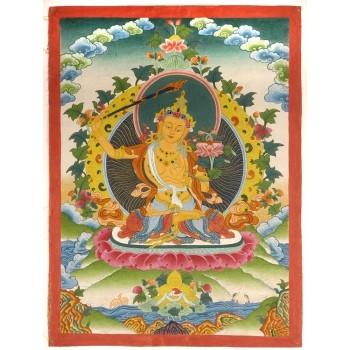 Thangka Manjushri, im Wechselrahmen ca. 54 x 40 cm