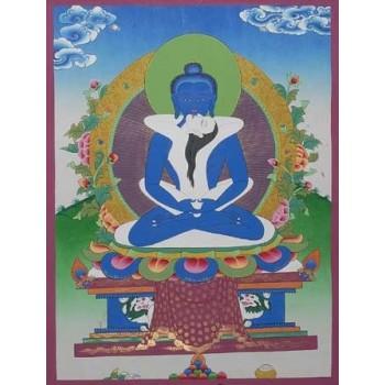 Thangka Samantabhadra, ca. 54 x 42 cm