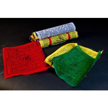 Tibetische Gebetsfahnen, Polyester groß(VPE: 5 Stück)