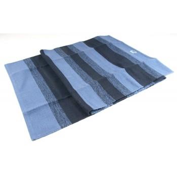 Yogamatte aus Baumwolle blau gestreift