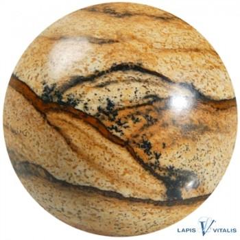 JOYA Massagestiftkugel Landschaftsjaspis (Sandstein)