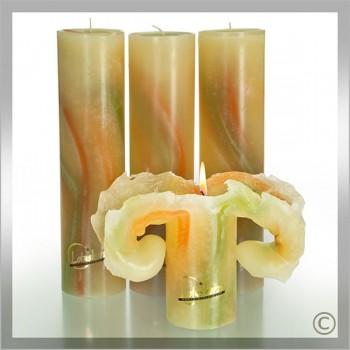 Kerze, Aquarell 28 cm schilf (VPE: 3 Stück)