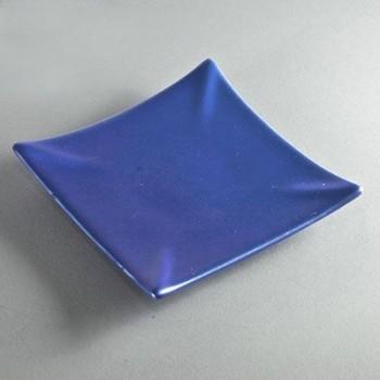 Kerzenuntersetzer quadratisch blau (VPE: 6 Stück)