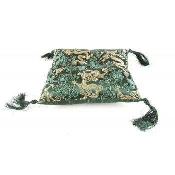 Klangschalenkissen Brokat extragroß grün