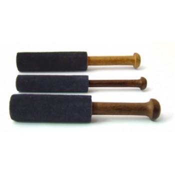 Lederklöppel aus Hartholz 27 cm mit doppeltem Leder