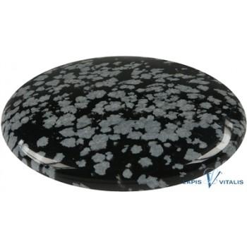 Linsenstein Obsidian (Schneeflocke)