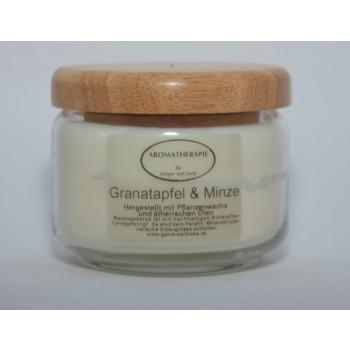 Massagekerze Holzdeckel Bambus & Olivenblüte