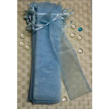 Organza-Beutel 8 x 34 cm blau 30 Stück