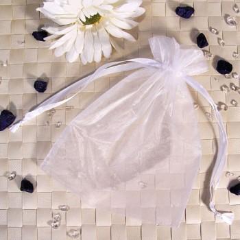 Organza-Beutel groß weiß 50 Stück