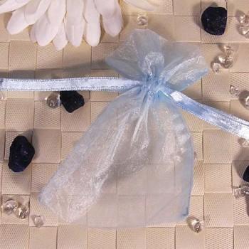 Organza-Beutel klein blau 50 Stück