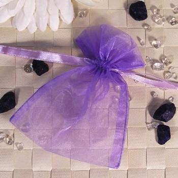 Organza-Beutel klein lila 50 Stück