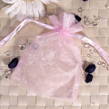 Organza-Beutel klein rosa 50 Stück