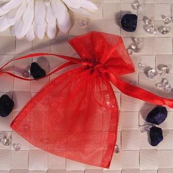 Organza-Beutel klein rot 50 Stück