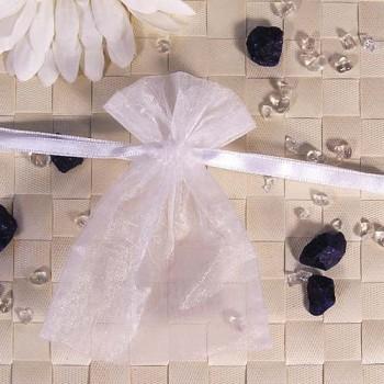 Organza-Beutel klein weiß 50 Stück