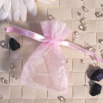 Organza-Beutel mini rosa 50 Stück