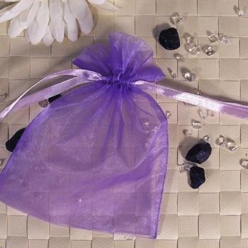 Organza-Beutel mittel lila 50 Stück