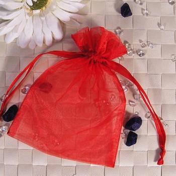 Organza-Beutel mittel rot 50 Stück