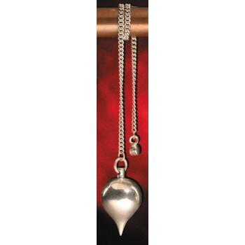 Massives Silberpendel mit Silberkette